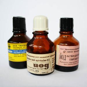 Йод - гуманное средство, которое также поможет избавиться от родимого пятна.