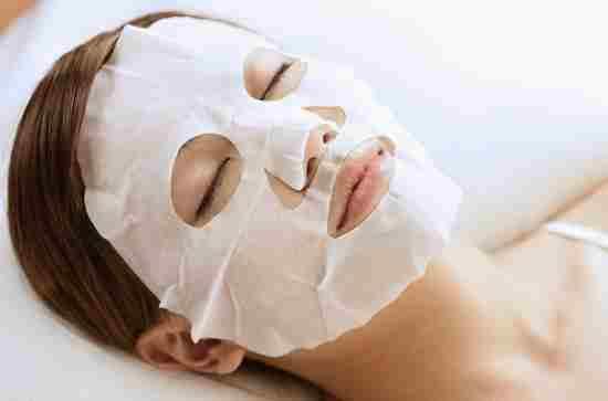 Применение тканевой маски