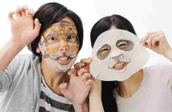 Корейские тканевые маски в виде мордочек животных