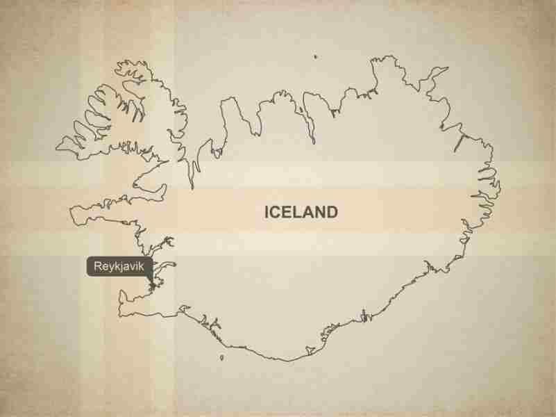 Остров с неровной береговой линией