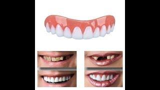 накладные зубы, зубной протез- распаковка посылки